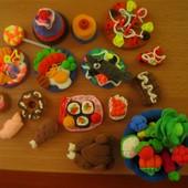 Набор мини-блюд, сладостей, еды и овощей для игр или кукол. Набор 20 шт. Дети в восторге!