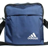 Спортивная синяя мужская сумка в стиле Adidas А-05