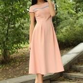 Платье Сильвия р42-52 голубой, розовый, пудра