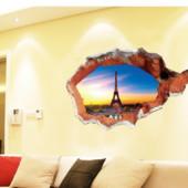 Интерьерные 3D наклейки на стену. Башня Эйфелевая.