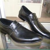 Мужские фирменные туфли. Кожа