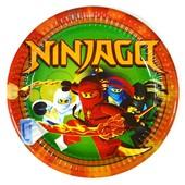 Декор и одноразовая детская бумажная посуда Ниндзяго