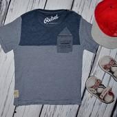 4 - 5 лет 110 см Rebel Рейбел Фирменная футболка стильному мальчику полосатая