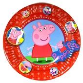 Декор и одноразовая детская бумажная посуда Свинка Пеппа