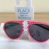 Очки розовые для малышки 0-2, 2-4года Childrens Place 100% защита от ультрафиолетовых лучей