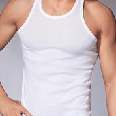 Майка мужская белая хлопок от 48 до 60 размера Цена завода