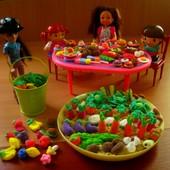 Набор мини-еды,овощи,фрукты для игр в огород и для кукол. Набор 20 шт. Детки в восторге!