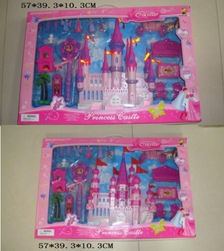 Замок hyl332 с мебелью,куклами муз.свет. 2в.кор.57*39,3*10,3 фото №1