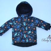 Яркие зимние куртки размеры 98, 104,110 см