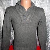 Стильный шерстяной свитер, джемпер H&M р. XS/S