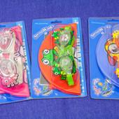 Очки и шапочка для плавания детские комплект  на 2-4 года Bubble world Arena