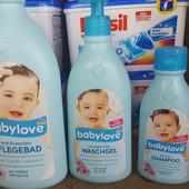 Babylove шампунь для детей, масло для кожи, присыпка (оригинал
