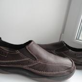 раз.42-43.Clarks кожаные туфли мокасины
