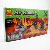 Конструктор Bela 10469 иссушитель майнкрафт, Minecraft, 324 дет.