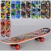 Скейтборд детский мини Fast Track 0323-3: 6 видов, 60х15 см