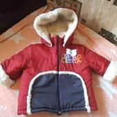 Зимняя куртка на овчине на 96-104 см. Италия