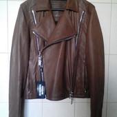 крутая оригинальная,100%натуральная кожа,мягкая куртка-косуха Dirk Bikkembergs,uniseks