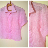 Рубашка мужская розовая короткий рукав