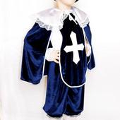Карнавальный костюм Мушкетер №3 синий велюр