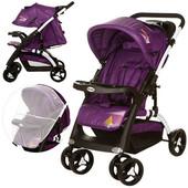 New! Детская прогулочная коляска C18-f-9, фиолетовый