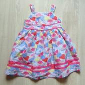 Стильное платье для девочки. Внутри на подкладке. TU. Размер 12-18 месяцев. Состояние: отличное