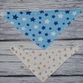 Очень стильные фирменные банданы арафатки платок на шею цветочки звездочки