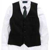 Черная жилетка и рубашка некст 7 лет (122-128см)
