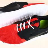 Код: 2018 Мужские кроссовки красно черные с серой вставкой на белой подошве