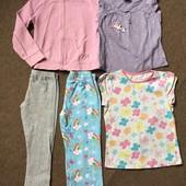 Пакет вещей 5 штук для девочки 5-6 лет