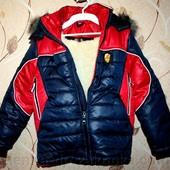 Зимняя куртка для мальчика на меховой подстежке от 2 до 10 лет.