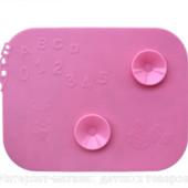 Детский нескользящий силиконовый коврик для кормления с присосками для тарелок