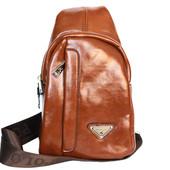 Мужская оригинальная сумка через плечо рыжего цвета Е-54191К