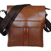 Мужская стильная и удобная сумка рыжая Е-54174К
