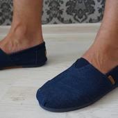 Мужские эспадрильи синий джинс