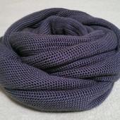 Снуд вязаный серо-голубой (под заказ)