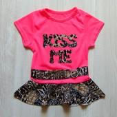 Яркая футболка с баской для девочки. BB.Annette. Размер 6 месяцев, будет дольше. Состояние: отличное