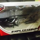 Вертолет на ик управлении Exploiter S (черный, 40 см, 3-канальный, с гироскопом) (YW858401)