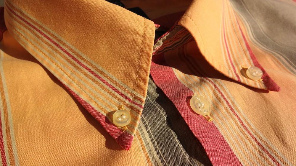 Man's world. Пастельная полосатая рубашка с коротким рукавом. Германия. ворот 43/44 фото №1