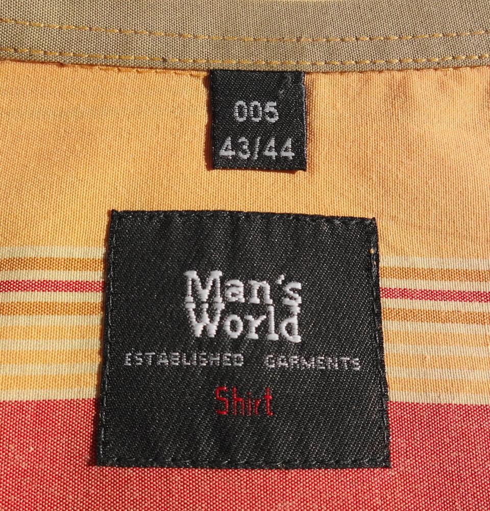 Man's world. пастельная полосатая рубашка с коротким рукавом. германия. ворот 43/44 фото №3