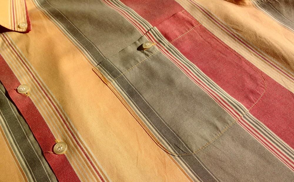 Man's world. пастельная полосатая рубашка с коротким рукавом. германия. ворот 43/44 фото №4