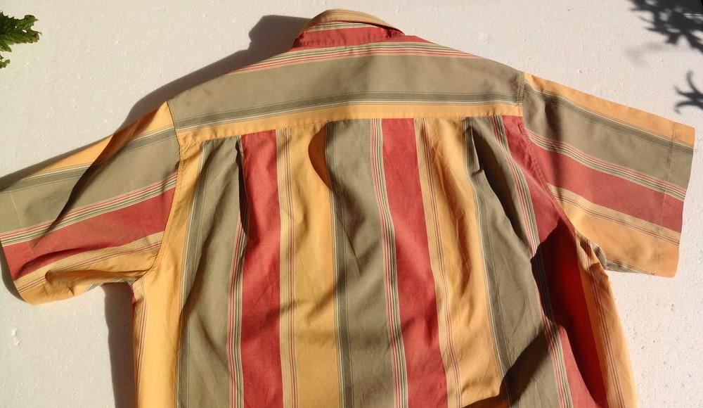 Man's world. пастельная полосатая рубашка с коротким рукавом. германия. ворот 43/44 фото №6