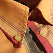 Man's world. Пастельная полосатая рубашка с коротким рукавом. Германия.