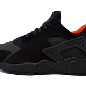 Кроссовки Nike air huarache black orange