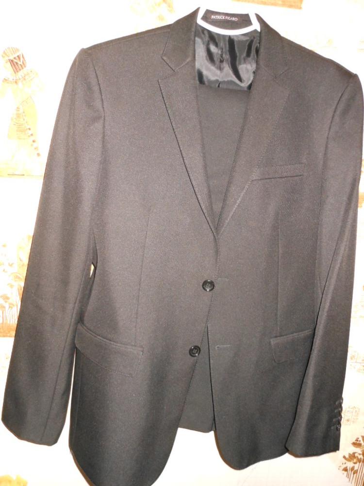 S-М /44-46 Patrick Figaro Черный костюм 70% шерсть 176-180 см фото №1