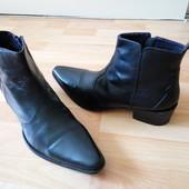Ботинки кожа р.43 демисезонные кожаные ботинки