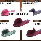 100-RR-12. 100-RR-7  тапочки женские домашние. много расцветок  Inblu, материал - велюр 4,5 см