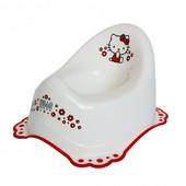 """Горшок Maltex """"Hello Kitty""""c нескользящими резинками 4513 Польша белый 12115105"""