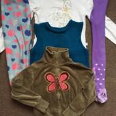 Пакет вещей 5 штук для девочки 110 см+ тёплые носочки