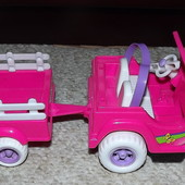 машинка джип с прицепом Mattel звуковые эффекты
