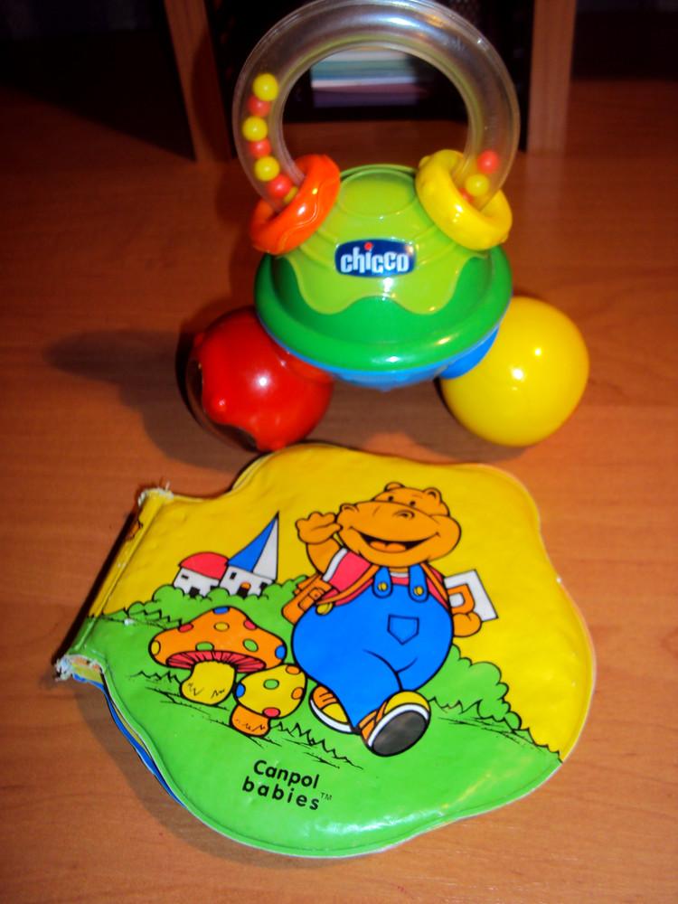 Chicco погемушка+ книжечка canpol babies фото №1